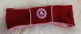 Kopfbedeckung - Stirnband rot mit Eislaufschuh - Windprofi - Sterntaler