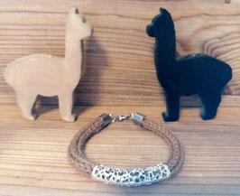 Armband aus Alpakawolle - hellbraun - Nr. 3