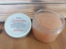 Zucker Peeling mit Alpaka Keratin - Rose
