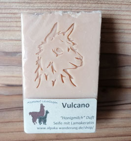 """Alpaka-Keratin Handseife """"Vulcano"""" - Honigmilch Duft"""
