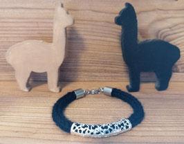 Armband aus Alpakawolle - schwarz - Nr. 3