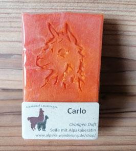 """Alpaka-Keratin Handseife """"Carlo"""" - Orangen Duft"""
