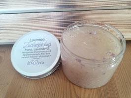 Zucker Peeling mit Alpaka Keratin - Lavendel