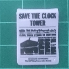 "PLAY.G04.A699.70459 Cartel AZUL ""SAVE THE CLOCK TOWER"""