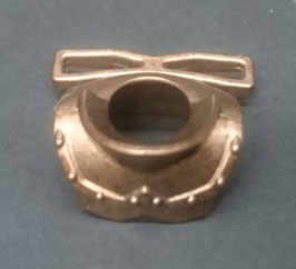 PLAY.D21.a5899.0000 Gorjal Medieval Labrado c/ Guias Armas Bronce Pintas