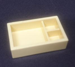Play.CP40.A1221.0093 Caja rectangular organizador 29X18X8 amarillo claro