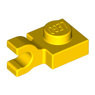 LEGO 6019 | 4107445 PLACA 1X1 C/ CLIP VERTICAL AMARILLO INTENSO