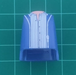 Play.T08.C4699.6663 Torso Azul#05 camisa blanca