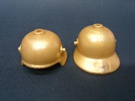 PLAY.CG03.B522.7373 Casco Sajon Medieval Guia Visera 1 Orificio (Dorado)
