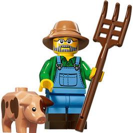 LEGO 71011 MINIFIGURA SERIE 15 Nº 01 GRANJERO CON CERDITO