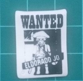 """PLAY.G04.A1264.7160 Cartel BLANCO WANTED """"EL DORADO JO"""""""