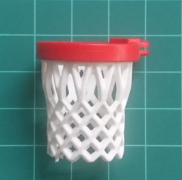 PLAY.FIG07.A6751.2240 CANASTA BASKET ARO ROJO RED BLANCO