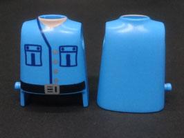 Play.T37.C1400.00 Torso Azul#02 Camisa Cinturon c/ Punto Sujeccion