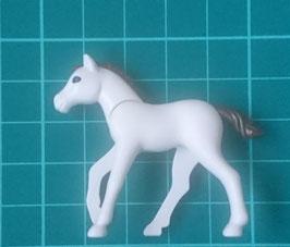 PLAY.ANI21.A6867.6053 Caballo Potro Pony BEBE BLANCO MARRON