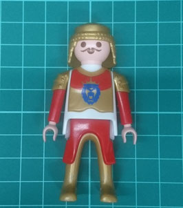 Play.Fig10.B199.6379 Figura hombre Medieval Leon Faldon rojo/gold