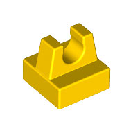 LEGO 2555 | 4164060 PLACA 1X1 C/ CLIP SUPERIOR AMARILLO INTENSO