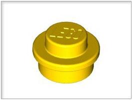 LEGO 6141 | 614124 PLACA REDONDA 1X1 AMARILLO INTENSO