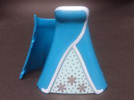 Play.CG32.C3462.1905* Vestido largo linea A (azul copos nieve)