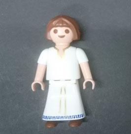 PLAY.T60.C1399.6493 Niña Castaña Vestido Blanco