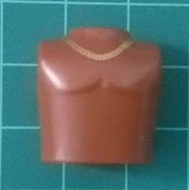 PLAY.T29.C4599.70274 TORSO FINO DESNUDO CHOCOLATE CADENA GOLD