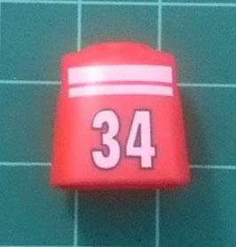 PLAY.T44.C1299.00 TORSO NIÑO AZUL ROJO#01 DORSAL 34