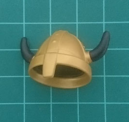 PLAY.CG07.A621.2810 Casco Capacete Vikingo GOLD CUERNO NEGRO