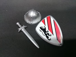 Play. MOD.LOT01.A2.0 SET ARMAS MEDIEVAL CASCO ESCUDO ESPADA