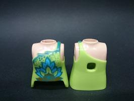 PLAY.T22.B599.5370 Torso Mujer Verde#04 Con Orificio Trasero