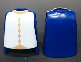 Play.T05.C1499.6846#CG28.C3 Torso Azul#07 Camisa Blanca Botones Camel