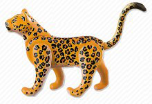 PLAY.ANI02.A6762.9264 Animal LEOPARDO NARANJA