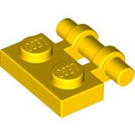 LEGO 2540 | 4140587 PLACA 1X2 C/ BARRA LATERAL AMARILLO INTENSO