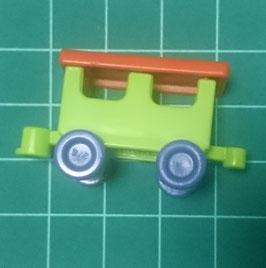 Play.CP07.B3599.9264 Juguete Tren Vagon Verde/Rojo