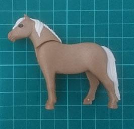 PLAY.TP04.0066.7892 Caballo Potro Pony estilo 11 MARRON CLARO CRIN BEIG