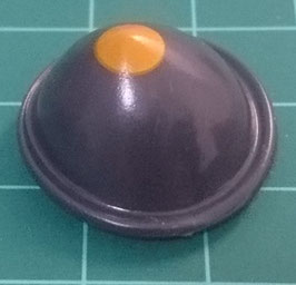 PLAY.CG44.A499.70288-12 Sombrero Bombin PAYASO ANTRACITA/NARANJA