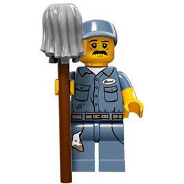 LEGO 71011 MINIFIGURA SERIE 15 Nº 09 CHICO LIMPIEZA CON FREGONA