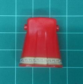 PLAY.CGP10.A399.6493 Pierna Falda Pliegue (Rojo#01) Ribetes Dorado/Blanco