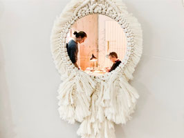 Miroir rond en macramé JOY.