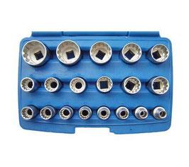Gear Lock Steckschlüsseleinsätze 12,5 (1/2) , 19-tlg (Art. 2152)