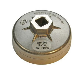 Ölfilterkappe aus Aluminium-Druckguss, 74 mm x 14-kant (Art. 1041)