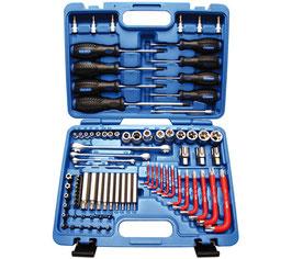 T-Profil Werkzeugsortiment, 6,3 (1/4) + 12,5 (1/2), 84 tlg. (Art. 7849)