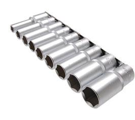 Steckschlüssel-Einsätze, tief, 10-24 mm, 12,5 (1/2), 9-tlg. (Art. 2223)