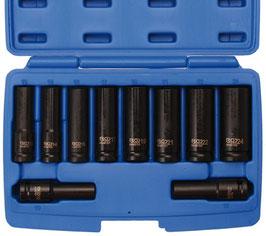 Kraft-Steckschlüssel-Einsätze, 12,5 (1/2), tief, 10-24 mm, 10-tlg (Art.5206)