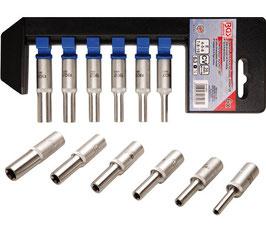 Steckschlüssel-Einsätze, tief, für E-Profil E4 - E10, 6,3 (1/4), 6-tlg. (Art. 6403)