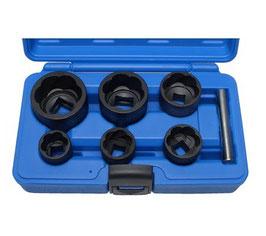 Spezial-Steckschlüsseleinsätze / Schraubenausdreher, 6-tlg., 22-41 mm, 12,5 (1/2)+20 (3/4) (Art. 5268)