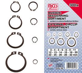 Außen-Seegerring (Sprengring) -Sortiment, 3-32 mm, 300-tlg (Art. 8046)
