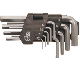Innen-6-kant-Winkelschlüssel-Set, 1.5-10 mm, 9-tlg. (Art. 807)