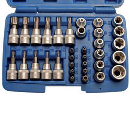 T-Profil Bit -und Steckschlüsselsatz 10 (3/8), 34-tlg (Art.5021)