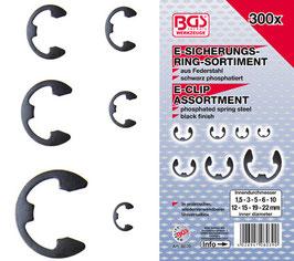 E-Sicherungsring-Sortiment, 1,5-22 mm, 300-tlg (Art. 8039)