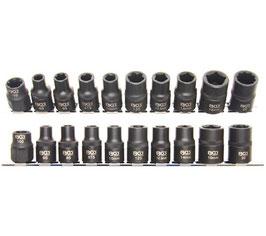 Spezial-KFZ-Steckschlüsseleinsätze 3 - 5 - 6 - 10-kant, 10-tlg. (Art. 2560)