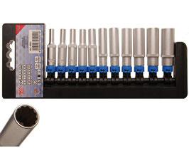 Steckschlüssel-Einsatz-Set, tief, 12-kant, 6,3 (1/4), 11-tlg. (Art. 5251)
